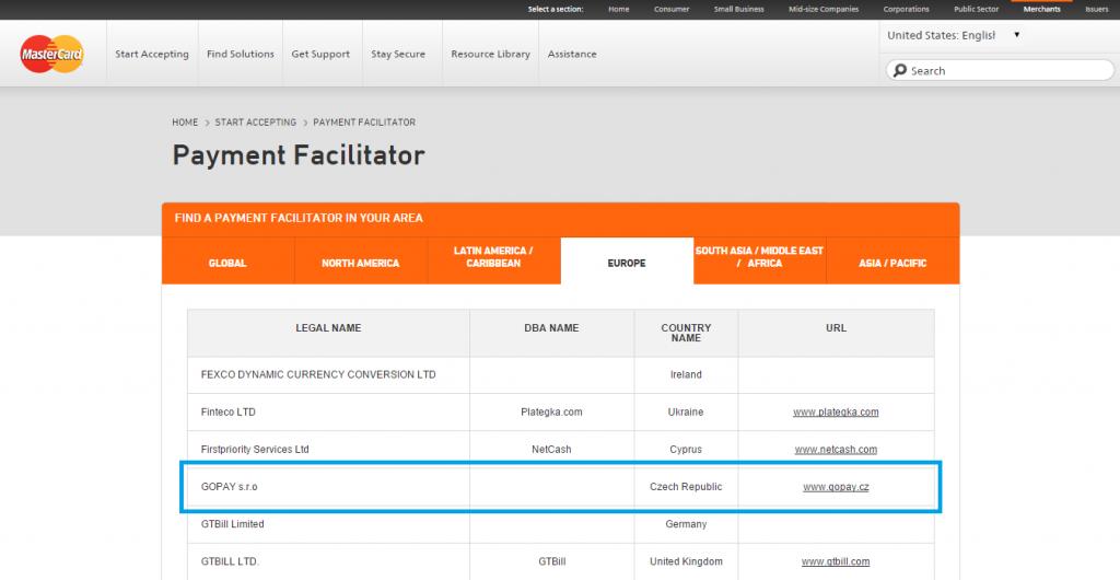 GoPay - payment facilitator