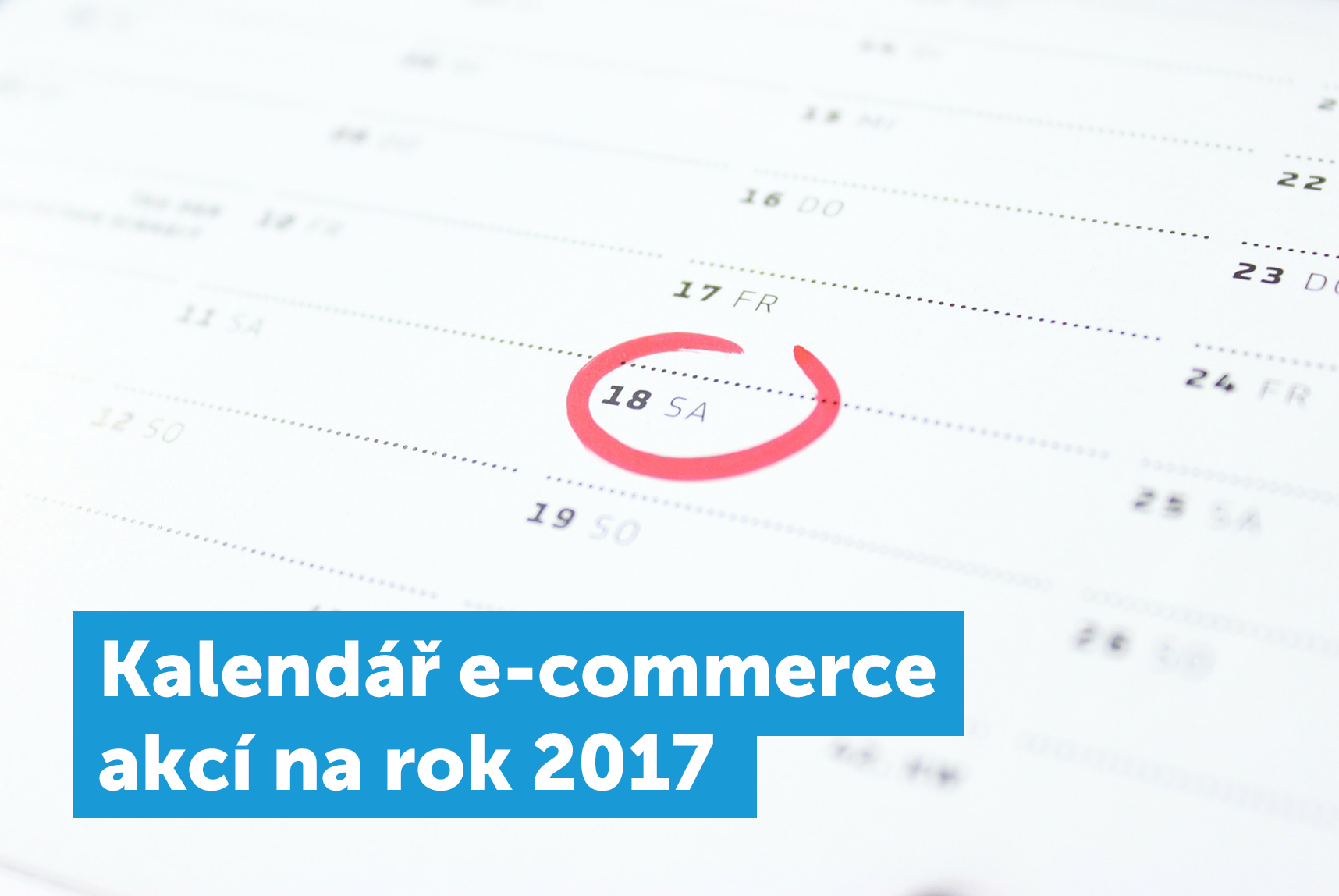 Kalendář e-commerce akcí 2017