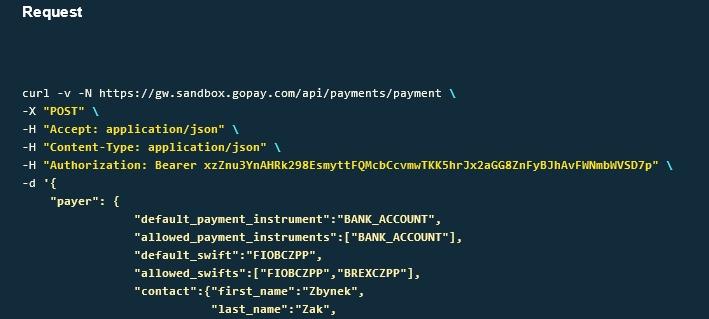 platba přes odkaz