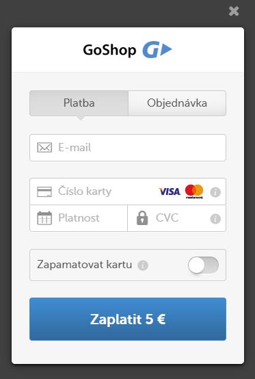 platební karta přímá varianta